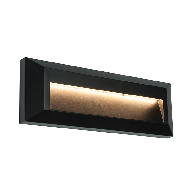 Saxby-61214 - Severus Black - LED Black Downlight Surface Brick Light