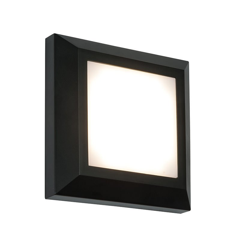 Saxby-61218 - Severus Black - LED Black Surface Square Brick Light