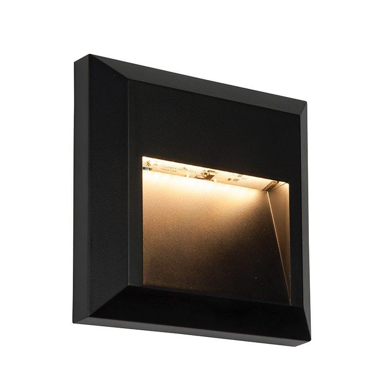 Saxby-61219 - Severus Black - LED Black Surface Downlight Brick Light