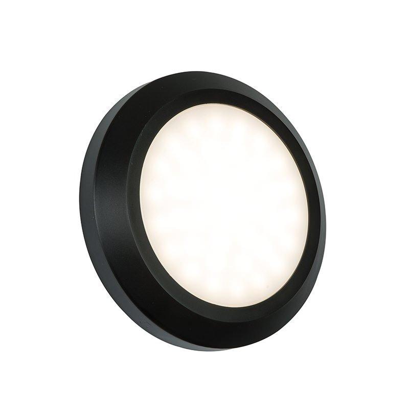 Saxby-61220 - Severus Black - LED Black Surface Round Brick Light