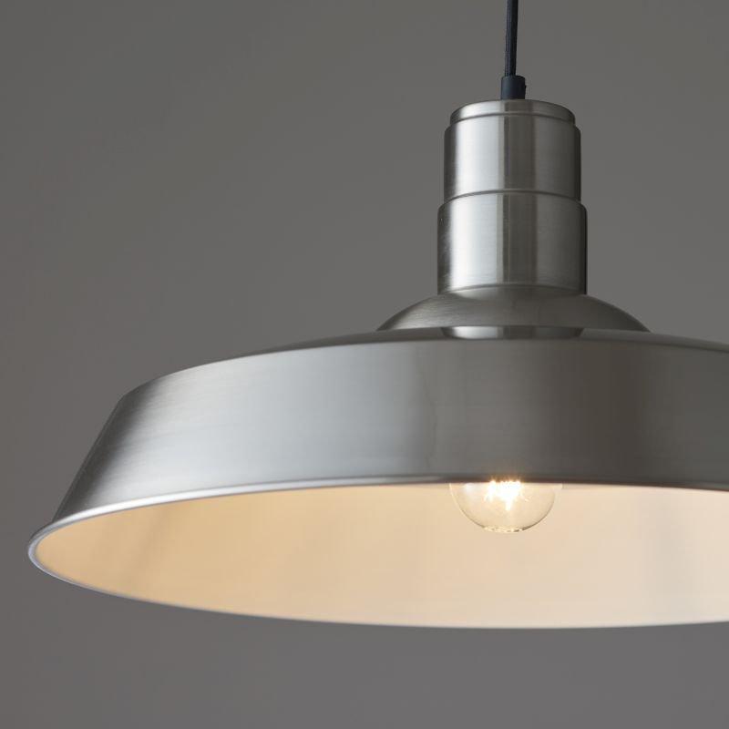 Endon-61282 - Moore - Nickel Metal Single Hanging Pendant