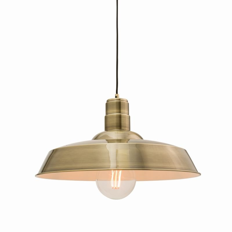 Endon-61283 - Moore - Antique Brass Metal Single Hanging Pendant