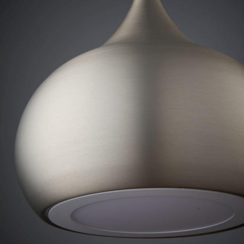 Endon-61296 - Brosnan - LED Matt Nickel Metal Single Hanging Pendant