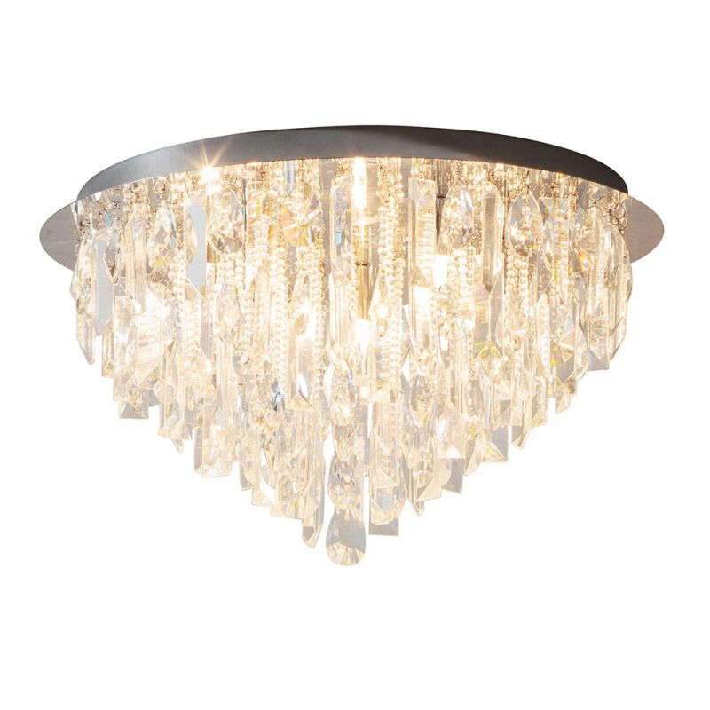 Endon-61564 - Siena - Crystal & Chrome 5 Light Ceiling Lamp