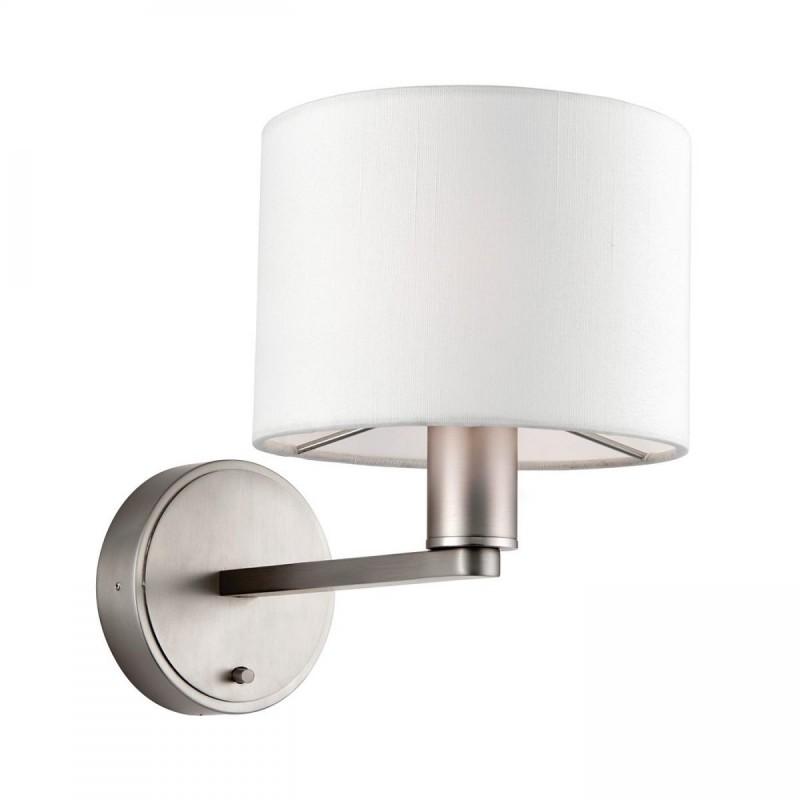 Endon-61608 - Daley - Vintage White Shade & Nickel Wall Lamp
