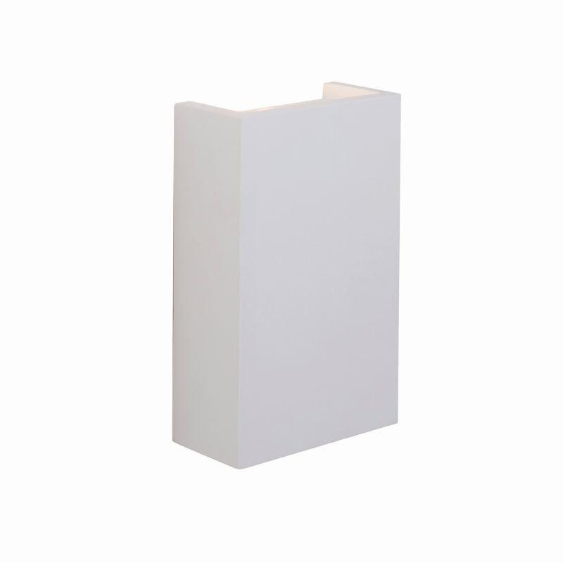 Saxby-61635 - Mornington - LED White Plaster Rectangle Wall Lamp