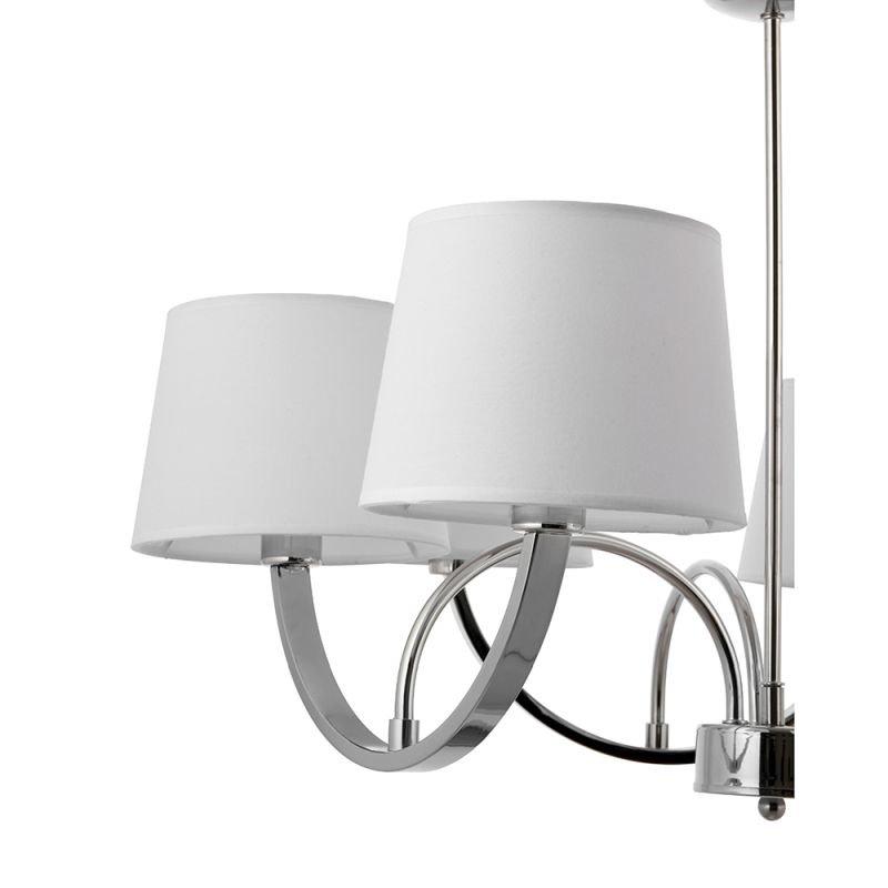 Endon-61709 - Macy - White Shade & Polished Chrome 6 light Centre Fitting