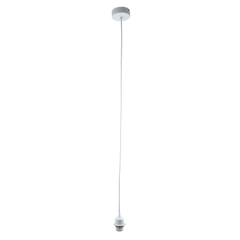 Endon-61808 - Cord Set - E27 Gloss White Suspension