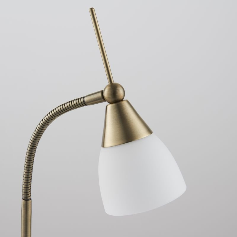 Endon-652-TLAN - Range - Antique Brass with Glass Touch Table Lamp