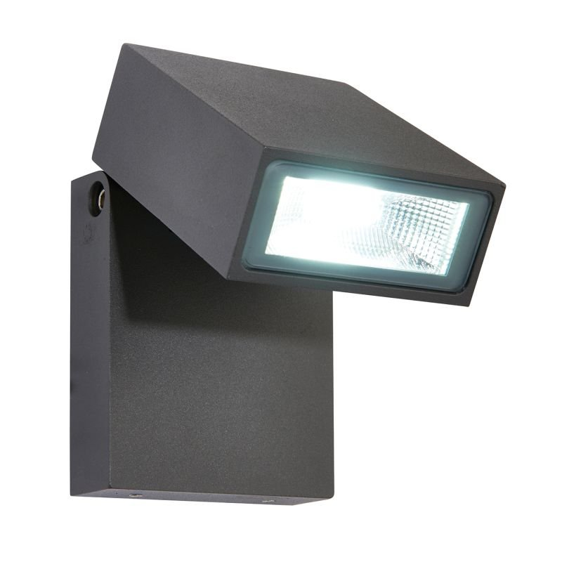 Saxby-67685 - Morti - LED Textured Anthracite Grey Wall Lamp