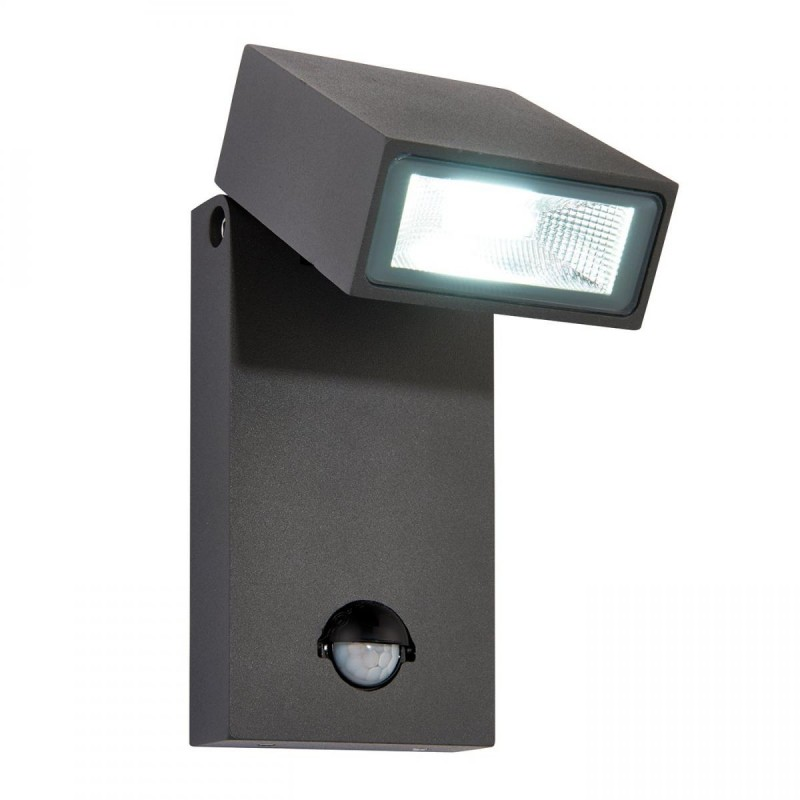 Saxby-67686 - Morti - LED PIR Textured Anthracite Grey Wall Lamp