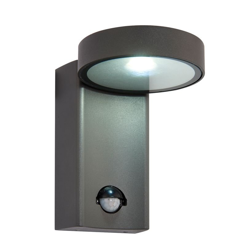 Saxby-67696 - Oreti - LED Textured Anthracite Up&Down PIR Wall Lamp