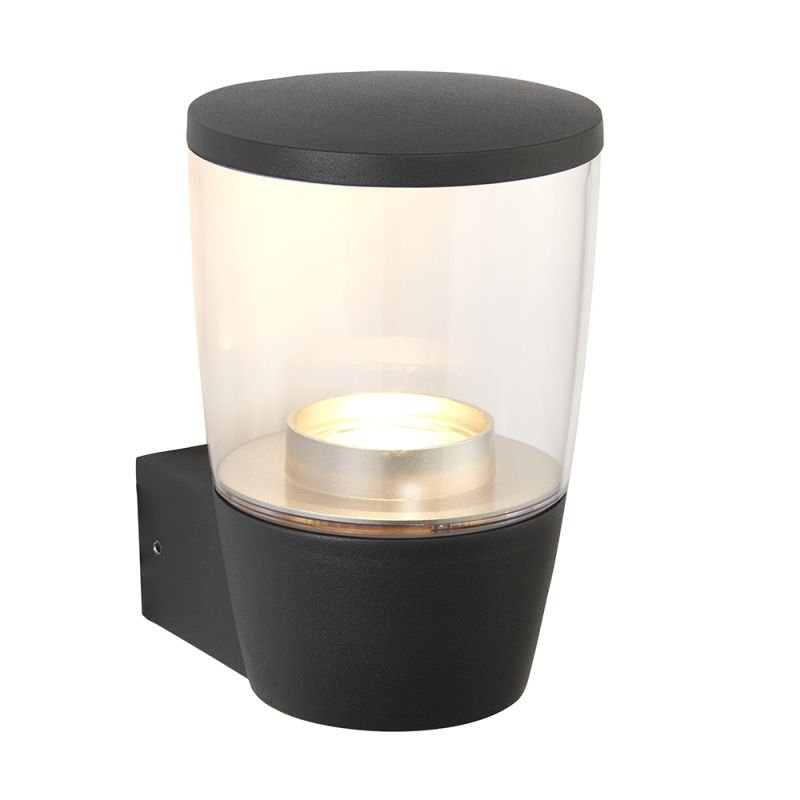Saxby-67697 - Canillo - Clear with Matt Antracite Wall Lamp