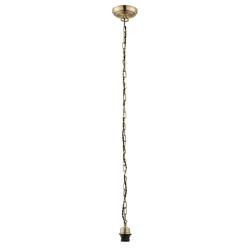 Endon-68835 - Cord Set - E27 Antique Brass Suspension with Chain