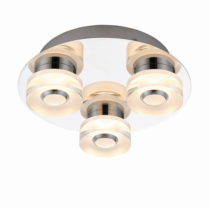Endon-68911 - Rita - LED Polished Chrome with Frosted 3 Light Ceiling Lamp