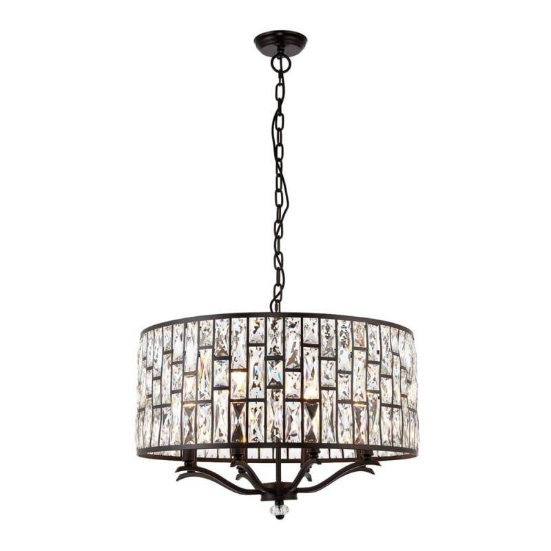 Endon-69391 - Belle - Crystal with Dark Bronze 8 Light Pendant