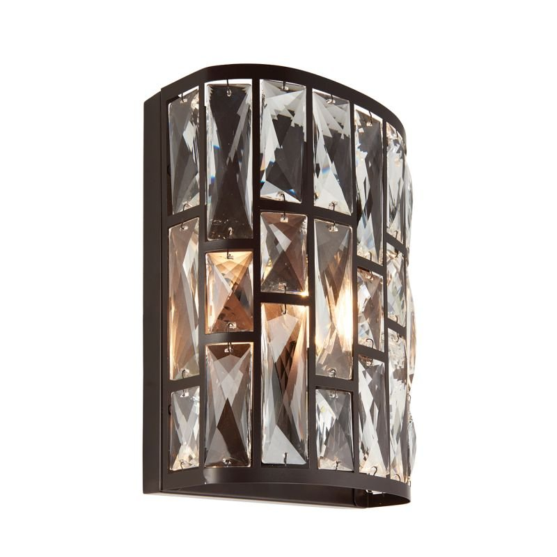 Endon-69392 - Belle - Crystal with Dark Bronze Wall Lamp