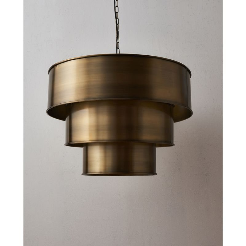 Endon-69783 - Morad - Aged Brass 3 Tiered Pendant