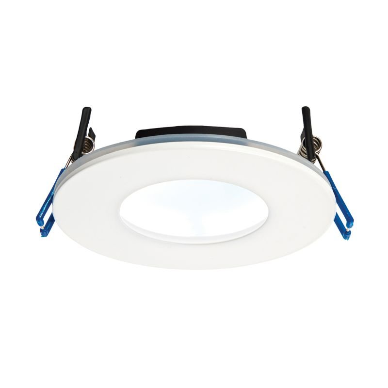 Saxby-69883 - OrbitalPlus - LED Matt White Recessed Downlight 5000K