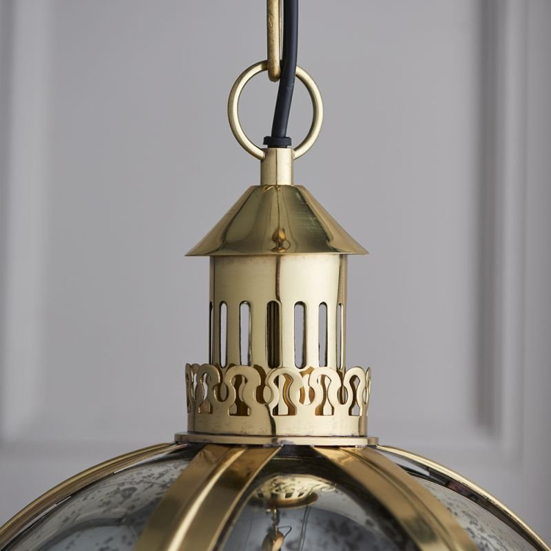 Endon-70091 - Vienna - Mercury Glass & Gold Lantern Pendant