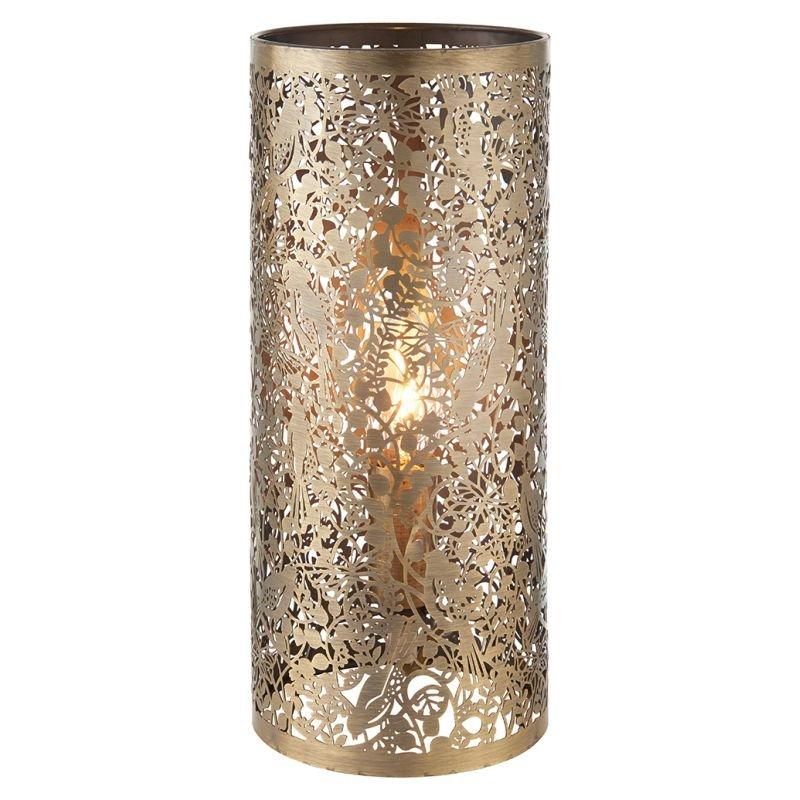 Endon-70102 - Secret Garden - Antique Brass Table Lamp