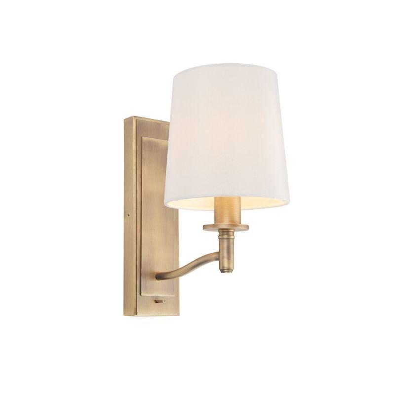 Endon-70246 - Ortona - Vintage White & Matt Antique Brass Wall Lamp