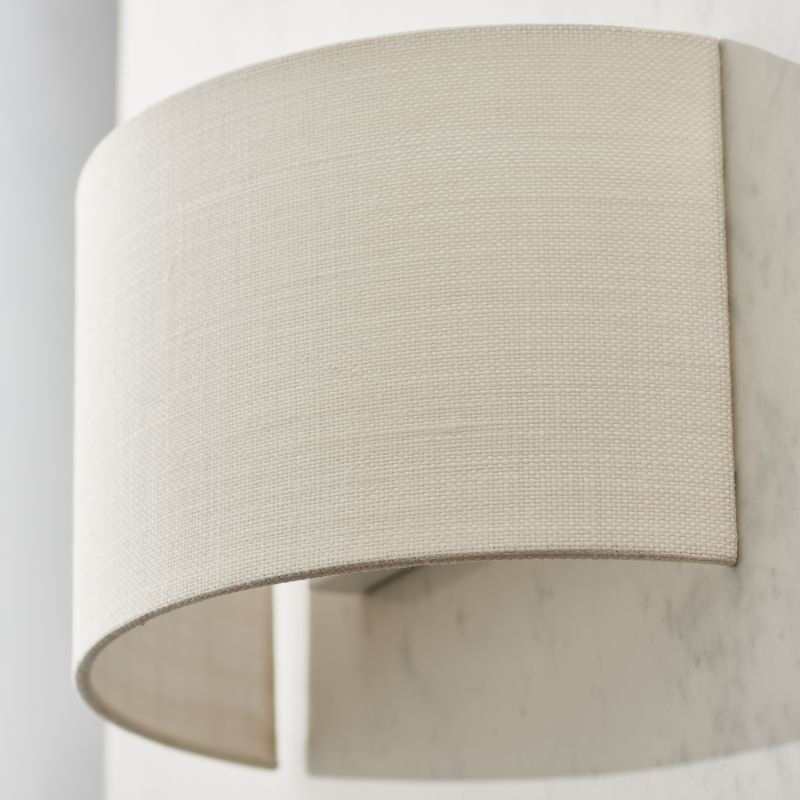 Endon-70334 - Obi - Vintage White Linen Wall Lamp