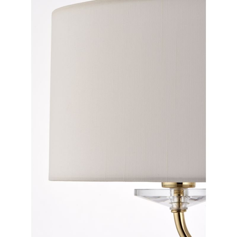 Endon-70563 - Nixon - Vintage White & Gold with Crystal 2 Light Floor Lamp