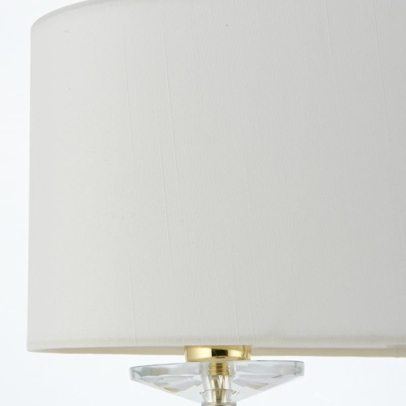 Endon-70564 - Nixon - Vintage White & Gold with Crystal 2 Light Table Lamp