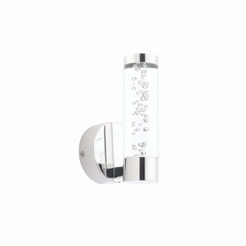 Endon-72046 - Essence - Clear Shade with Bubble & Chrome Single Wall Lamp