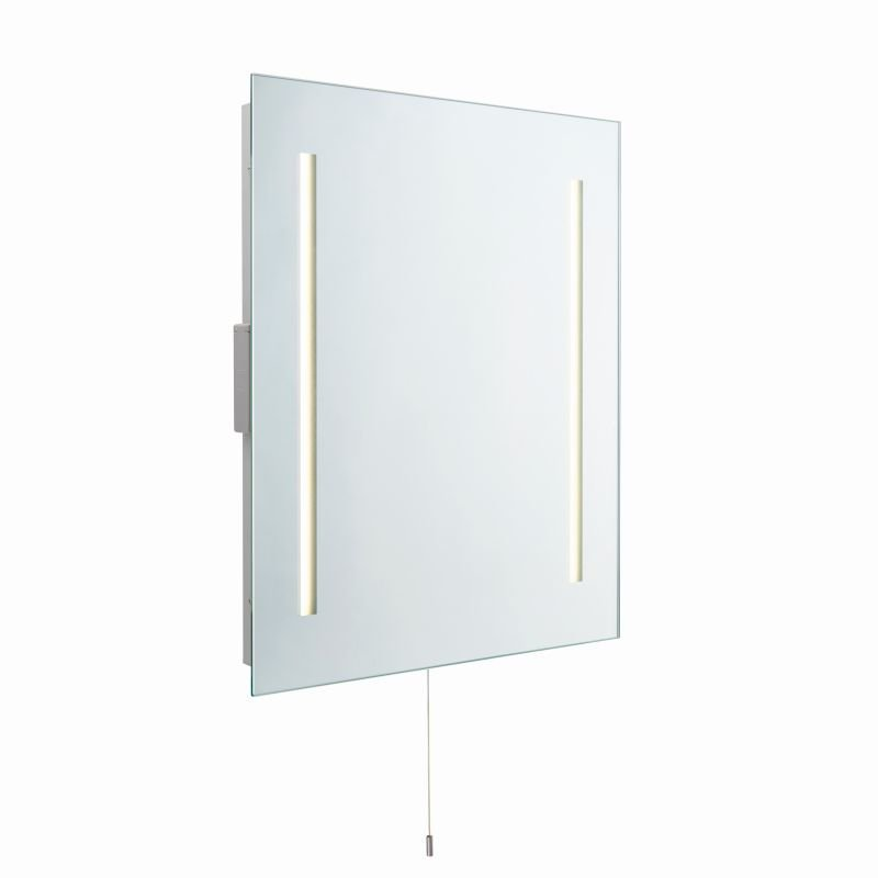 Saxby-72360 - Glimpse - LED Bathroom Mirror with Shaver Socket