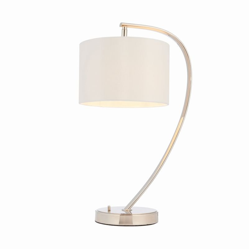 Endon-72389 - Josephine - White with Bright Nickel Table Lamp