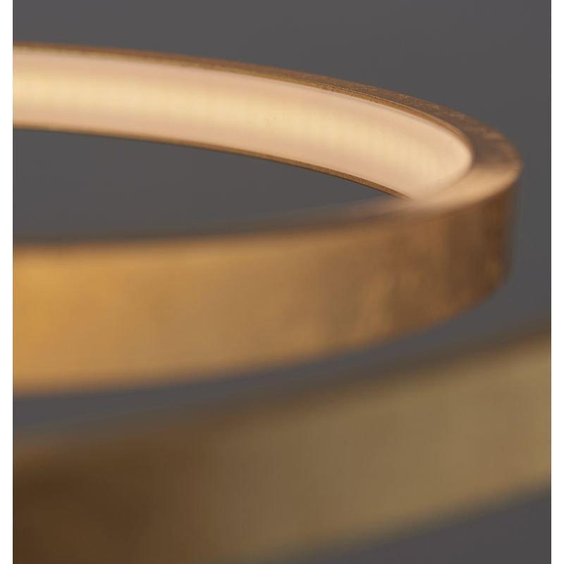 Endon-72479 - Scribble - LED Frosted & Gold Leaf Ring Pendant