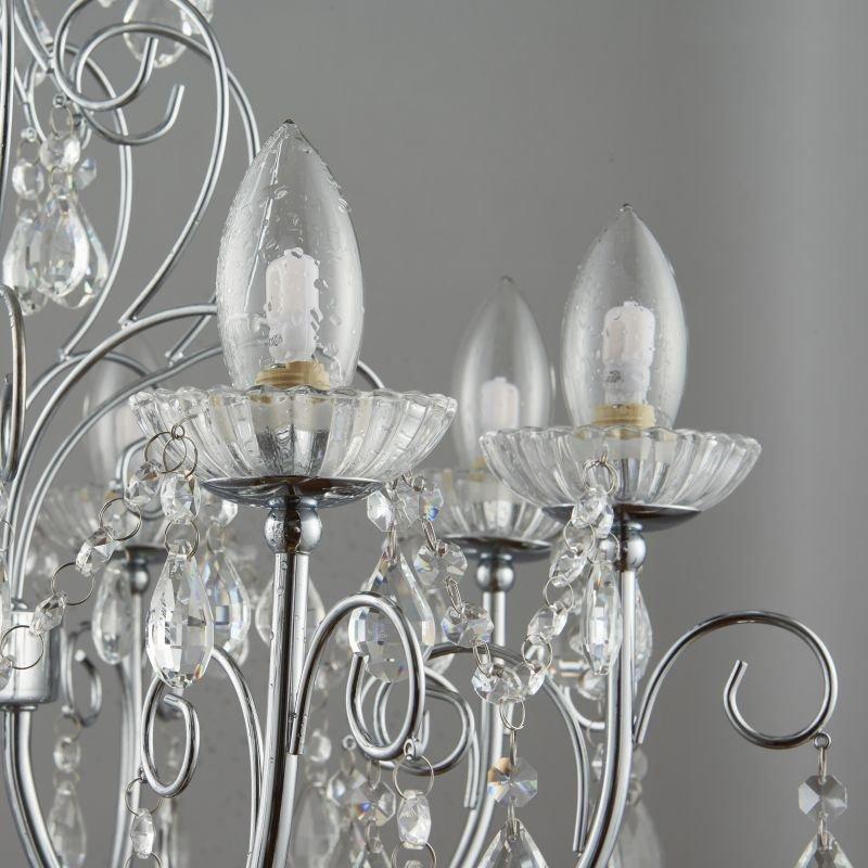 Endon-72561 - Tabitha - Bathroom Crystal with Chrome 8 Light Centre Fitting