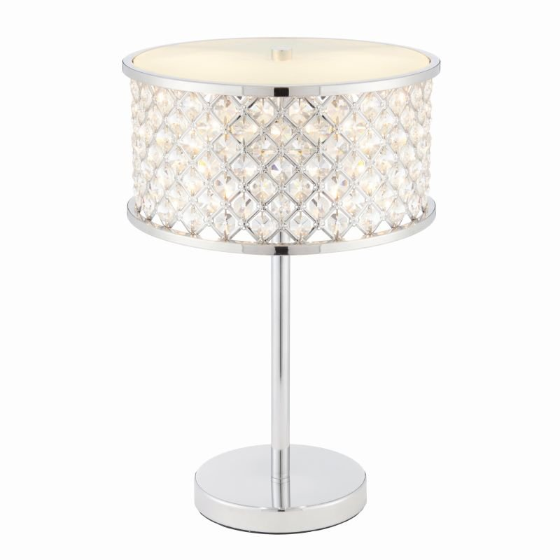 Endon-72747 - Hudson - Crystal & Opal Diffuser with Chrome Table Lamp