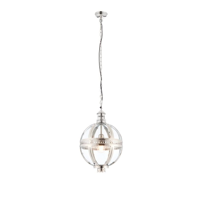 Endon-73109 - Vienna - Clear Glass & Bright Nickel Lantern Pendant