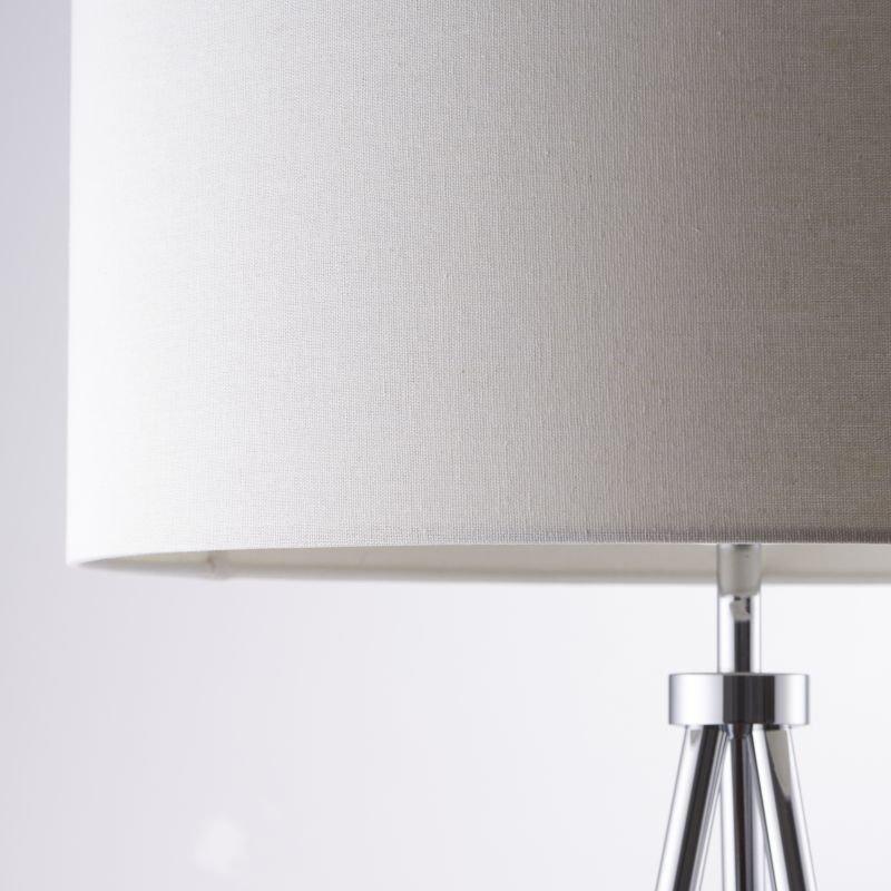 Endon-73145 - Tri - Ivory with Chrome Tripod Floor Lamp
