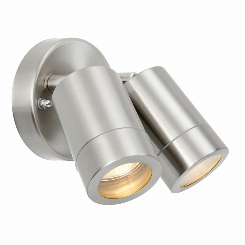 Saxby-73446 - Atlantis - Marine Grade Stainless Steel Twin Spotlights