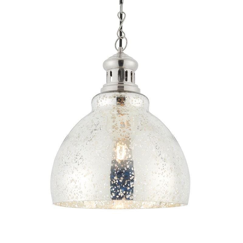 Endon-73569 - Darna - Antique Mottled Mercury Glass Effect Pendant
