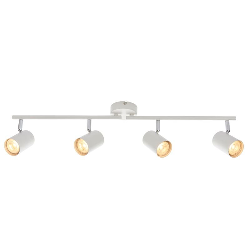 Saxby-73686 - Arezzo - Matt White & Chrome 4 Light Bar Spotlights