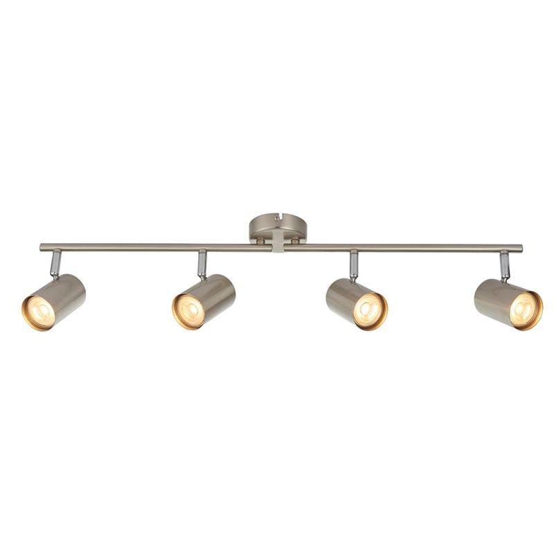 Saxby-73689 - Arezzo - Satin Chrome & Chrome 4 Light Bar Spotlights