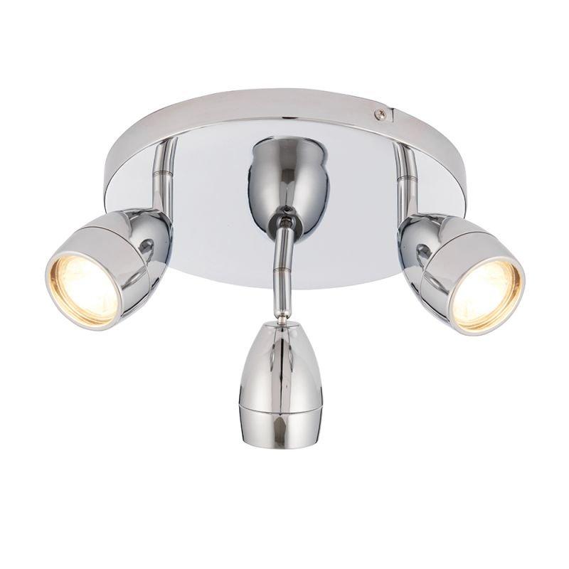 Endon-73692 - Porto - Bathroom Polished Chrome Round 3 Light Spotlights