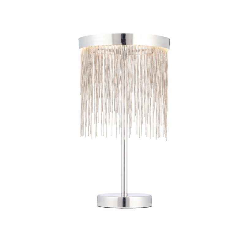Endon-73769 - Zelma - LED Chrome Ring & Delicate Chains Table Lamp