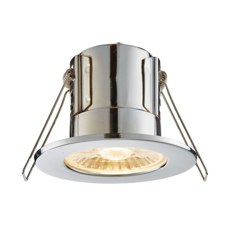 Saxby-74031 - ShieldECO 500 - LED Chrome Recessed Downlight 3000K