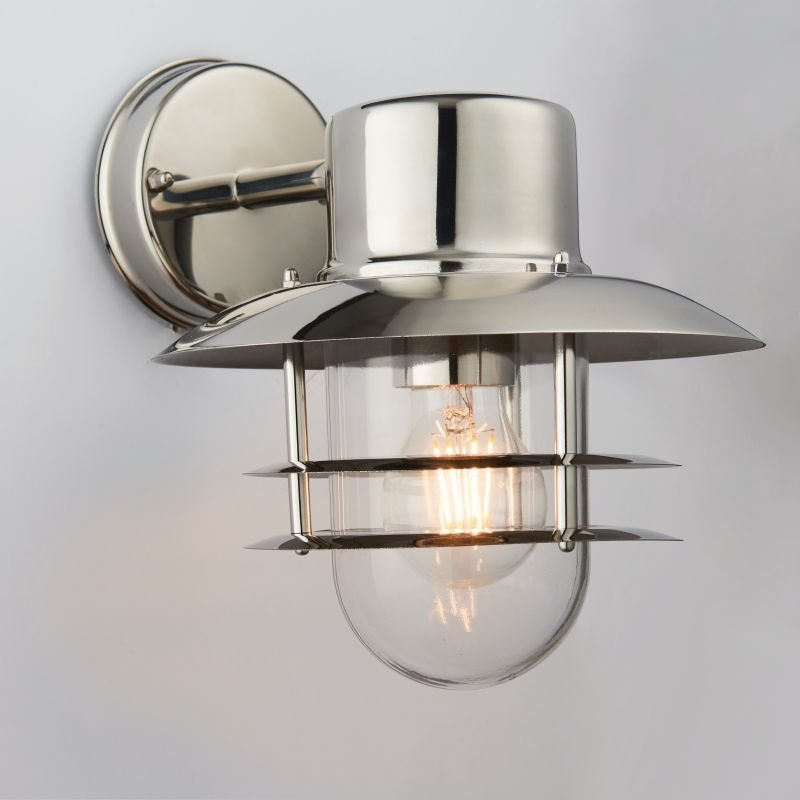 Endon-74703 - Jenson - Polished Stainless Steel and Glass Downlight Wall Lamp