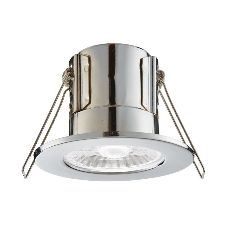 Saxby-74712 - ShieldECO 800 - LED Chrome Recessed Downlight 4000K