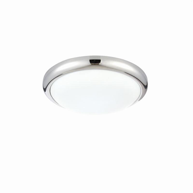Saxby-74768 - Montana - LED Round Chrome and White Flush