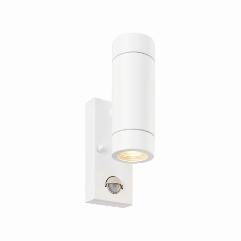 Saxby-75440 - Palin - Outdoor White Up&Down PIR Wall Lamp