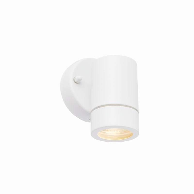 Saxby-75441 - Palin - Outdoor White Downlight Wall Lamp