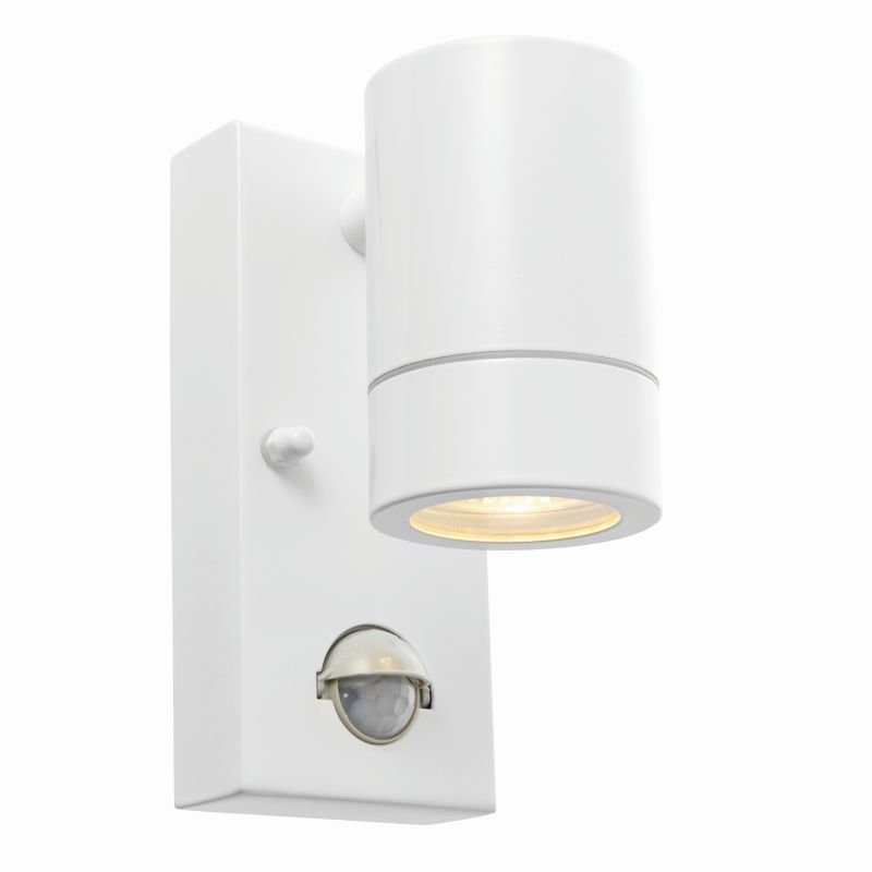 Saxby-75442 - Palin - White Downlight PIR Wall Lamp